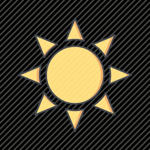 brightness, sun, sunny icon