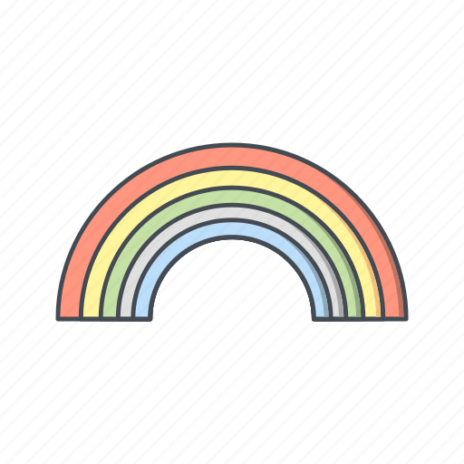 colorful, rainbow, weather icon