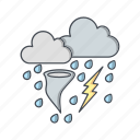 bad weather, storm, tornado icon