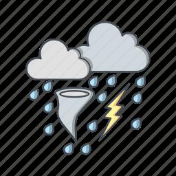 bad weather, storm, tornado icon
