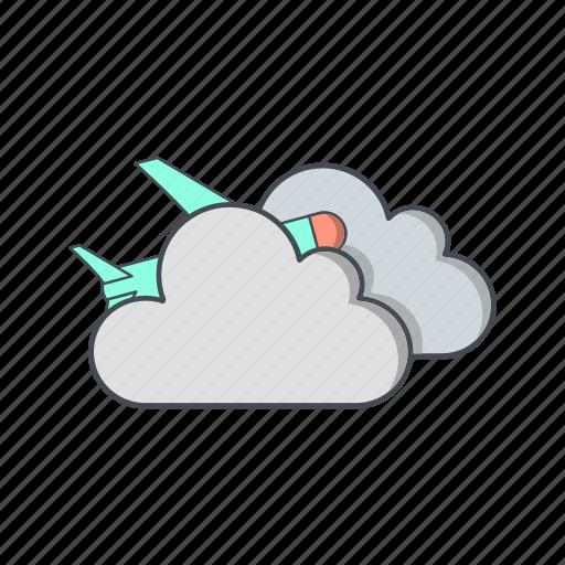 airplane, cloud, plane icon