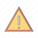 board, sign, warning icon