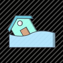 disaster, flood, flood symbol icon