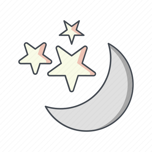 moon, moon and stars, stars icon
