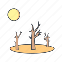 drought, forecast, sprout, sun icon