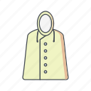 coat, jacket, rain icon