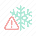 cold, danger, exclamation, extreme weather, forecast, warning, winter icon