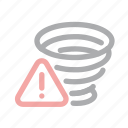 danger, exclamation, extreme weather, forecast, hurricane, tornado, warning icon