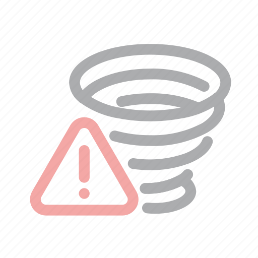 danger, exclamation, extreme weather, forecast, hurricane, tornado, warning icon