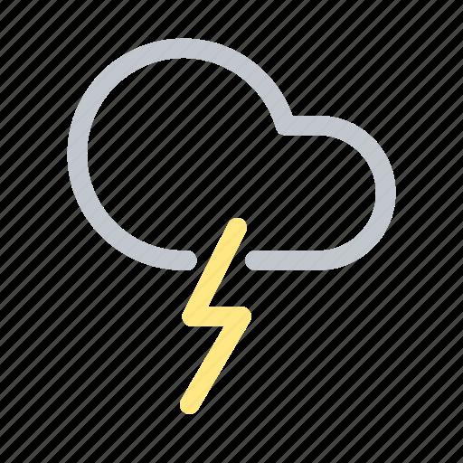 Cloud, forecast, lightning, sky, thunder, weather icon - Download on Iconfinder