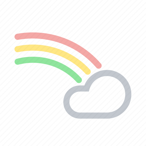 Cloud, forecast, rainbow, sky, weather icon - Download on Iconfinder