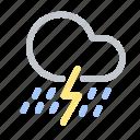 forecast, heavy rain, lightning, rain, storm, thunderstorm, weather