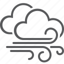 clouds, storm, weather, wind icon