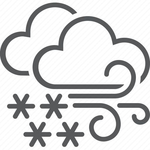 blizzard, clouds, snow, storm, weather icon