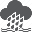 cloud, flood, rain, waves, weather icon