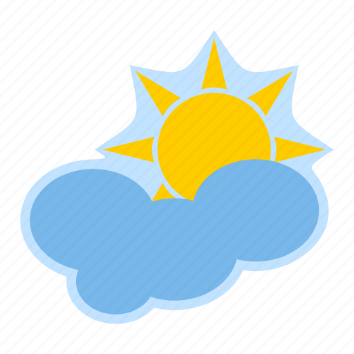 cloud, forecast, meteorology, sun, weather icon