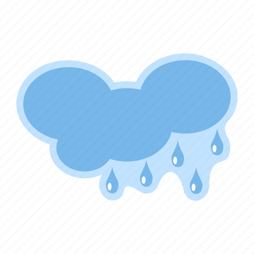 cloud, forecast, meteorology, rain, weather icon