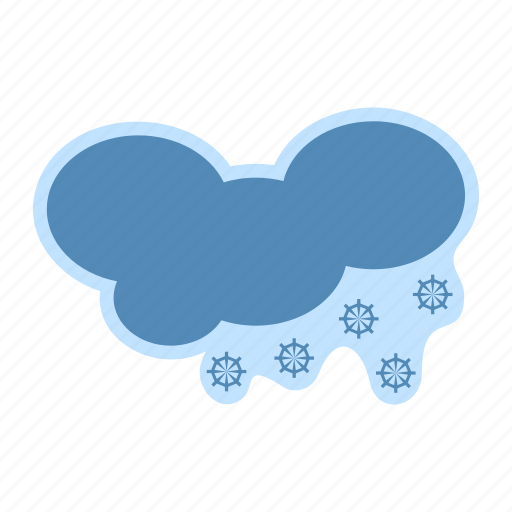 cloud, forecast, meteorology, snow, weather icon