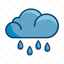 rainfall, cloud, rain icon