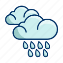 rainfall, weather, rain icon