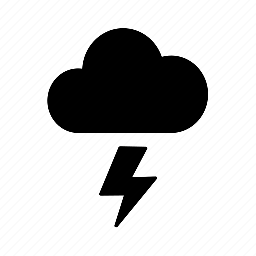 climate, cloud, forecast, meteorology, storage, thunder bolt, weather icon