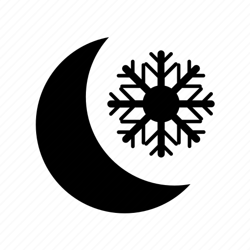 climate, cloud, forecast, meteorology, moon, snow, weather icon