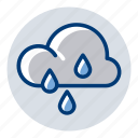 cloud, rain, rainy, weather, weather forecast icon