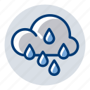 heavy rain, rain, rainy, weather, weather forecast icon