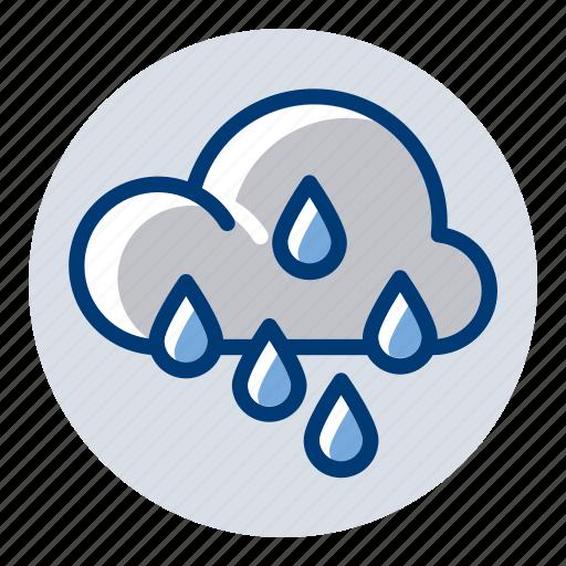 heavy rain, rain, rainy, weather, weather forecast icon