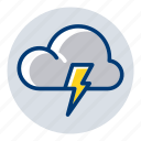 lightning, storm, thunder, weather, weather forecast icon
