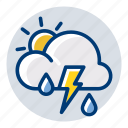 lightning, rain, rainy, thunder, weather, weather forecast icon