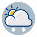 snow, snowy, sun, sunny, weather, weather forecast icon