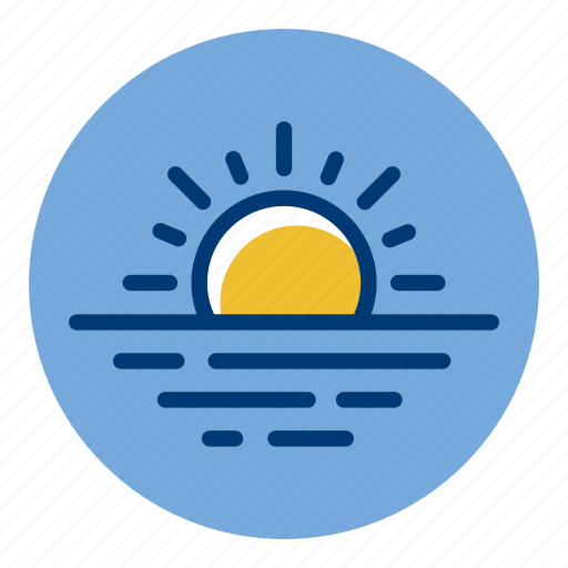 Evening, ocean, sea, sun, sunset, weather, weather forecast icon - Download on Iconfinder