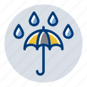 rain, rainy, umbrella, weather, weather forecast icon