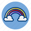 clouds, pride, rainbow, weather, weather forecast icon