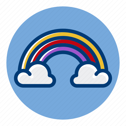 Clouds, pride, rainbow, weather, weather forecast icon - Download on Iconfinder