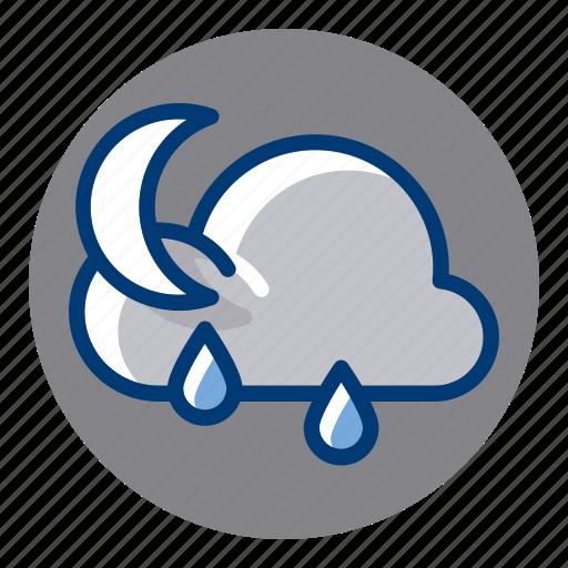 Night, rain, rainy, weather, weather forecast icon - Download on Iconfinder