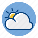 cloud, cloudy, sky, sun, weather, weather forecast