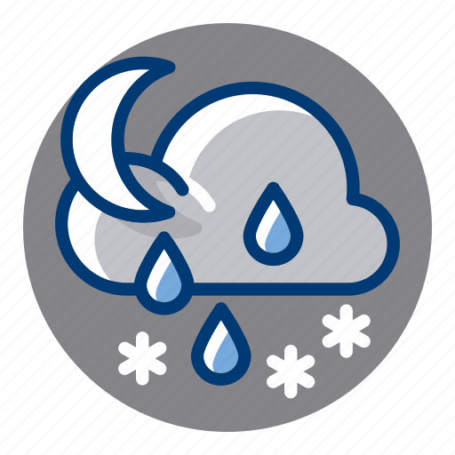 Rain, rainy, sleek, snow, snowy, weather, weather forecast icon - Download on Iconfinder