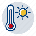 hot, summer, temperature, weather, weather forecast icon