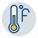 fahrenheit, temperature, weather, weather forecast icon