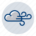 cloudy, weather, weather forecast, wind, windy icon