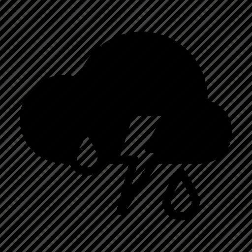Lightning, rain, rainy, storm, thunder, weather, weather forecast icon - Download on Iconfinder