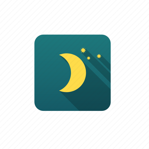 clear sky, forecast, meteorology, moon, weather icon