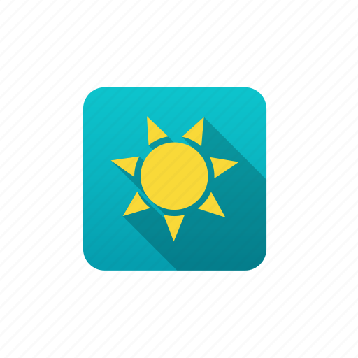 clear sky, forecast, meteorology, sun, weather icon