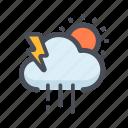 climate, cloud, color, forecast, season, weather icon