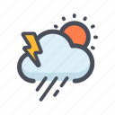 climate, cloud, color, forecast, season, weather icon