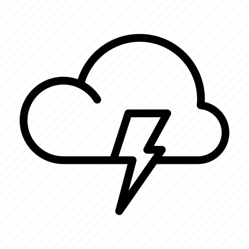 Cloud, storm, thunder, weather, weather forecast icon - Download on Iconfinder