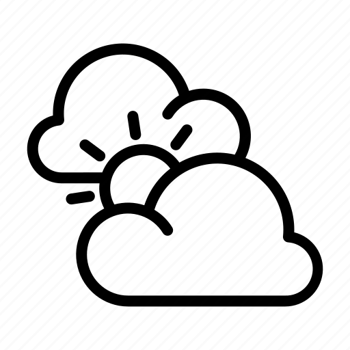 Clouds, cloudy, sun, weather, weather forecast icon - Download on Iconfinder