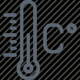 celcius, celsius, degree, forecast, temperature, thermometer, weather icon
